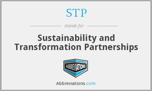 STP - Sustainability and Transformation Partnerships