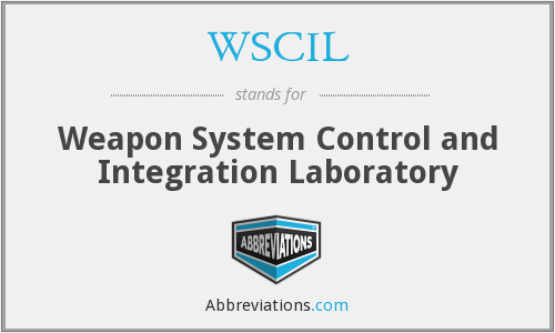WSCIL - Weapon System Control and Integration Laboratory