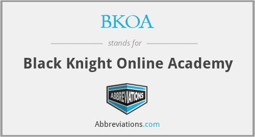 BKOA - Black Knight Online Academy