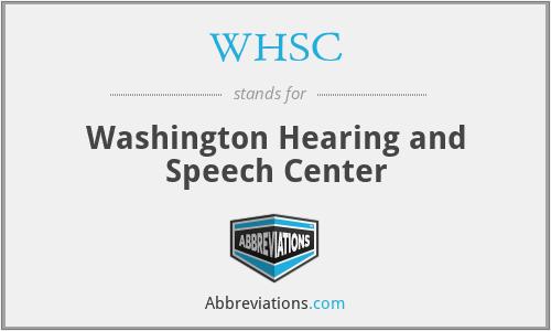 WHSC - Washington Hearing and Speech Center