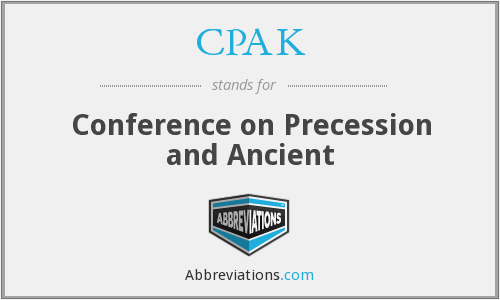 CPAK - Conference on Precession and Ancient