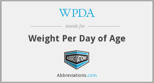 WPDA - Weight Per Day of Age