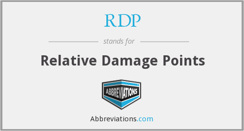 RDP - Relative Damage Points