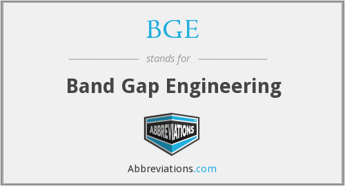 BGE - Band Gap Engineering