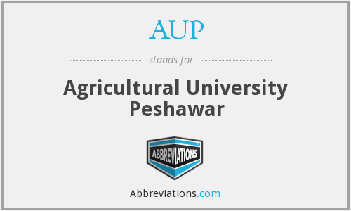 AUP - Agricultural University Peshawar