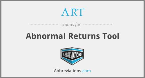ART - Abnormal Returns Tool