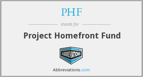 PHF - Project Homefront Fund
