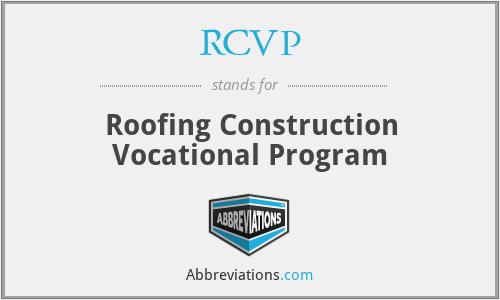 RCVP - Roofing Construction Vocational Program