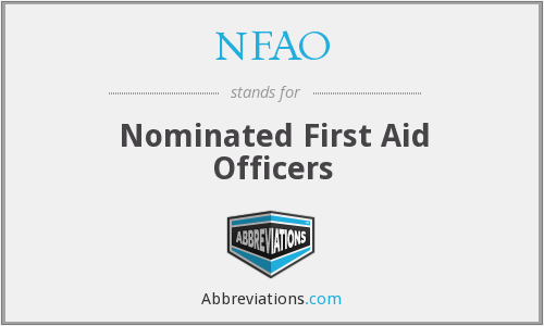 NFAO - Nominated First Aid Officers