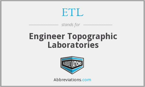 What does ETL stand for?