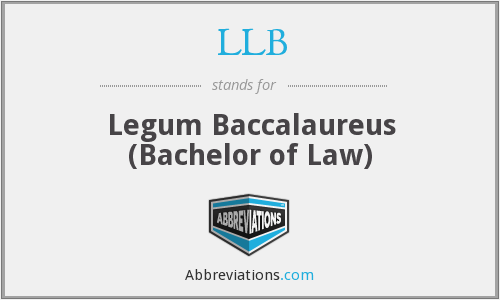 LLB - Legum Baccalaureus (Bachelor of Law)