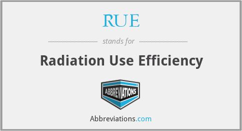RUE - Radiation Use Efficiency