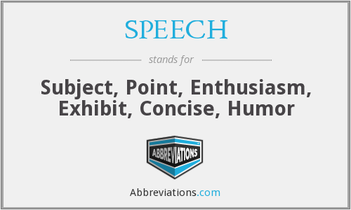 What does SPEECH stand for?