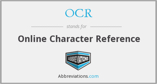 OCR - Online Character Reference