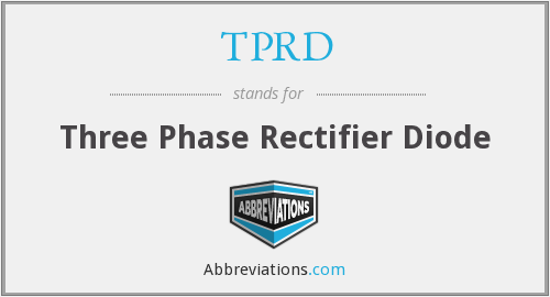 TPRD - Three Phase Rectifier Diode