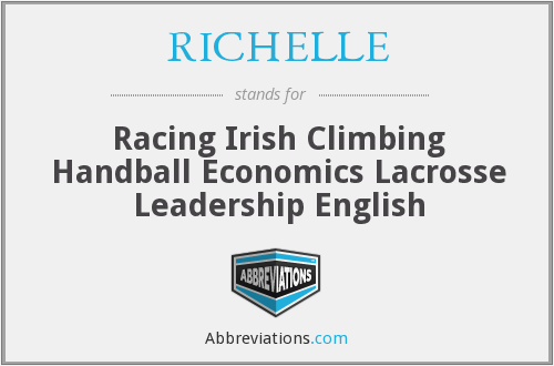 What does RICHELLE stand for?