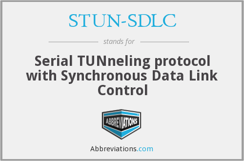 What does STUN-SDLC stand for?