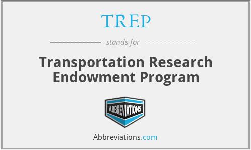 TREP - Transportation Research Endowment Program