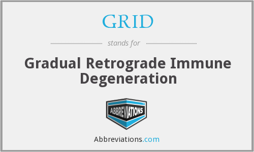 GRID - Gradual Retrograde Immune Degeneration