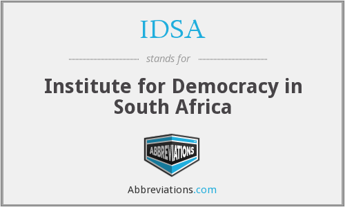 IDSA - Institute for Democracy in South Africa