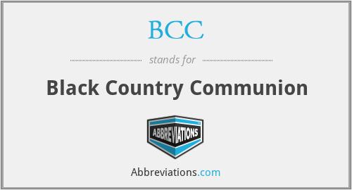 BCC - Black Country Communion