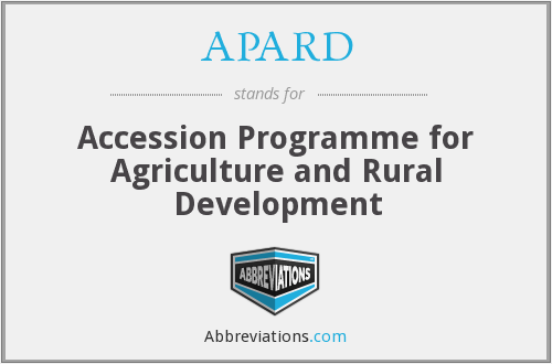 APARD - Accession Programme for Agriculture and Rural Development