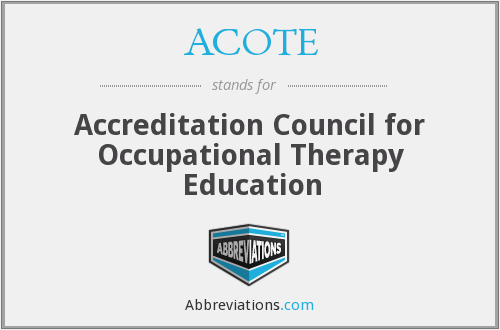 ACOTE - Accreditation Council for Occupational Therapy Education