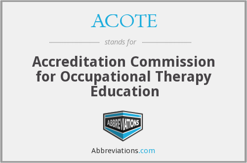 ACOTE - Accreditation Commission for Occupational Therapy Education