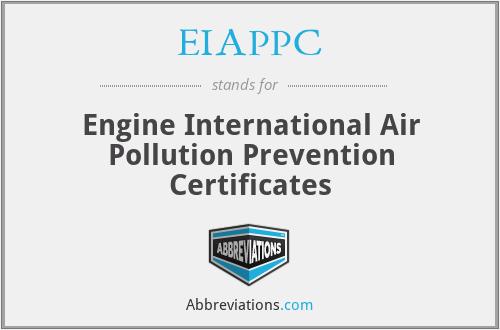 EIAPPC - Engine International Air Pollution Prevention Certificates