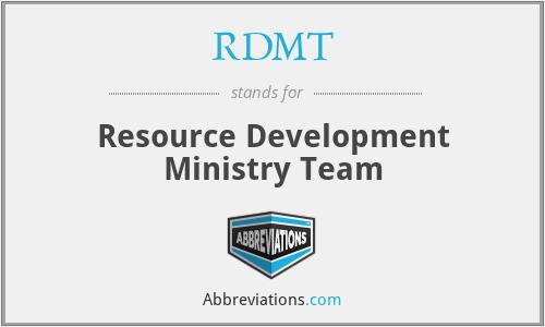 RDMT - Resource Development Ministry Team