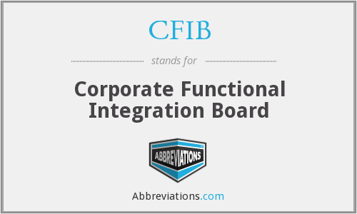 CFIB - Corporate Functional Integration Board