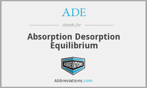 ADE - Absorption Desorption Equilibrium