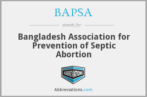 BAPSA - Bangladesh Association for Prevention of Septic Abortion