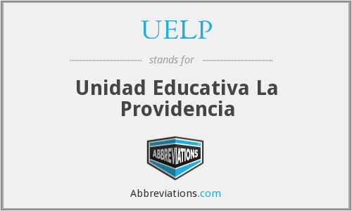 UELP - Unidad Educativa La Providencia