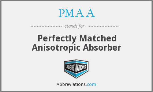 PMAA - Perfectly Matched Anisotropic Absorber