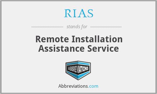 RIAS - Remote Installation Assistance Service