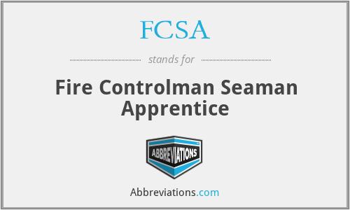 FCSA - Fire Controlman Seaman Apprentice