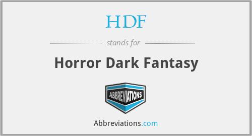 HDF - Horror Dark Fantasy