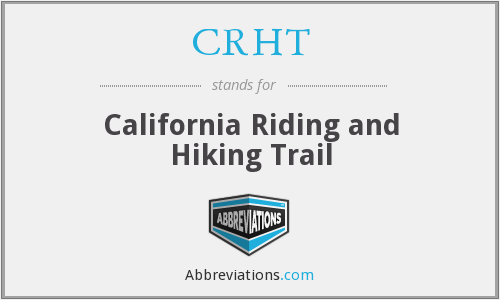 What does CRHT stand for?