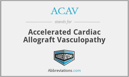ACAV - Accelerated Cardiac Allograft Vasculopathy