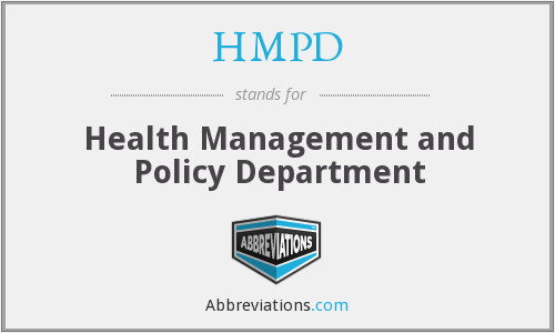 What does HMPD stand for?
