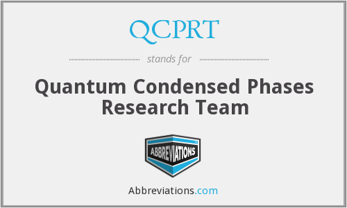What does QCPRT stand for?