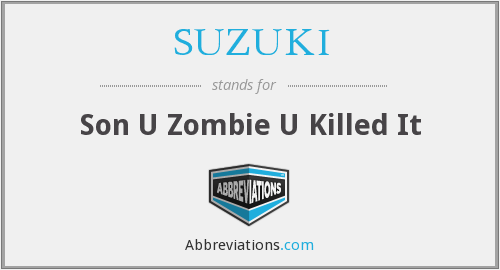 What does SUZUKI stand for?