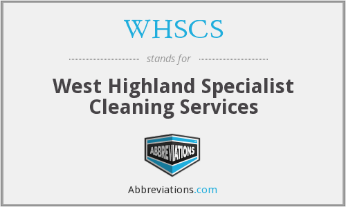 What does WHSCS stand for?