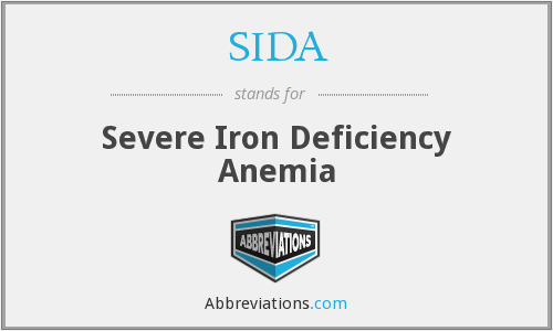 SIDA - Severe Iron Deficiency Anemia