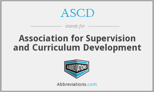 What does ASCD stand for?