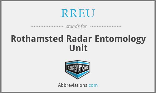 RREU - Rothamsted Radar Entomology Unit