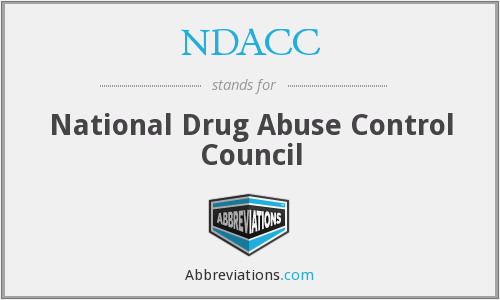 NDACC - National Drug Abuse Control Council