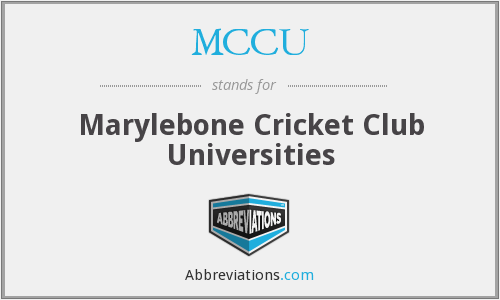 What does MCCU stand for?