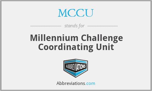 MCCU - Millennium Challenge Coordinating Unit
